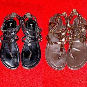 MIA gladiator sandals bundle brown & black 7.5